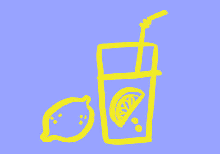 drawing of a glass of lemonade