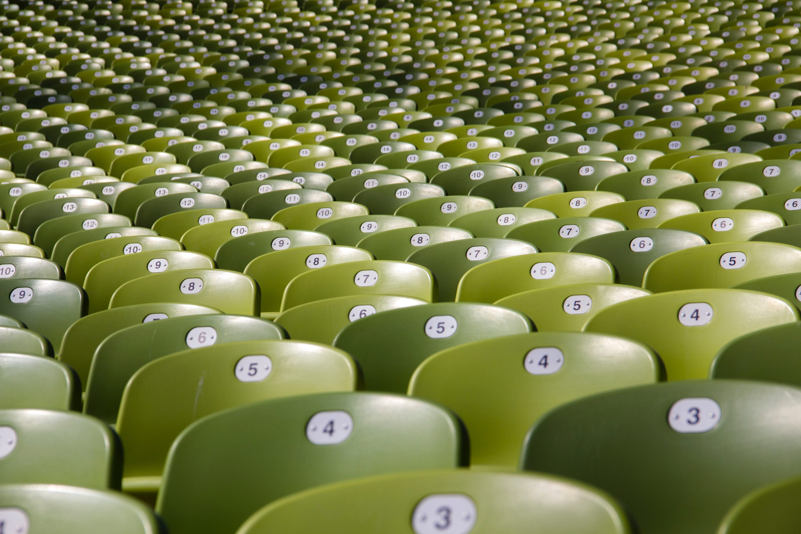 rows of green seating