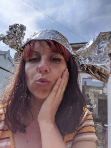 emina in a tin foil hat